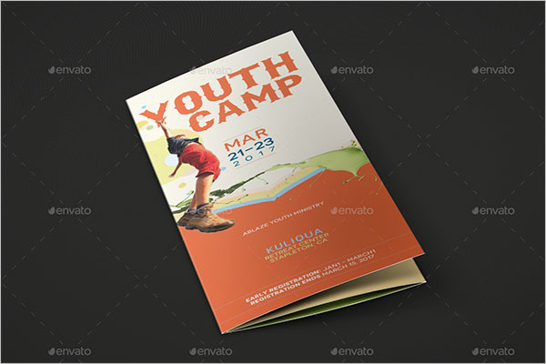 Tri-Fold Camp Brochure Template