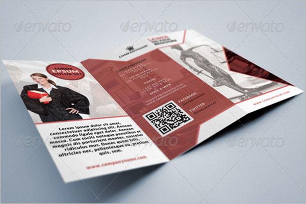 Tri-Fold Legal Brochure Template