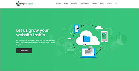 Unique Internet Marketing Landing Web Theme