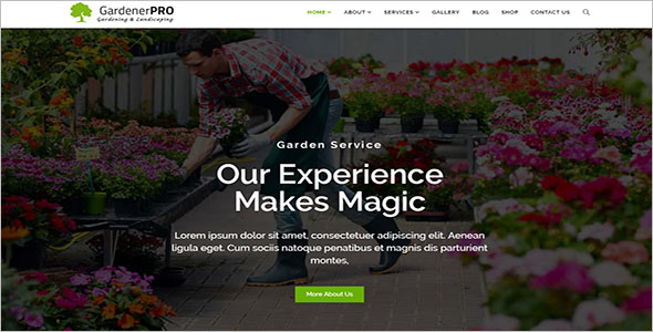 Unique Landscaping WordPress Theme