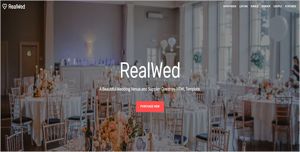 Unique Wedding Bootstrap Template