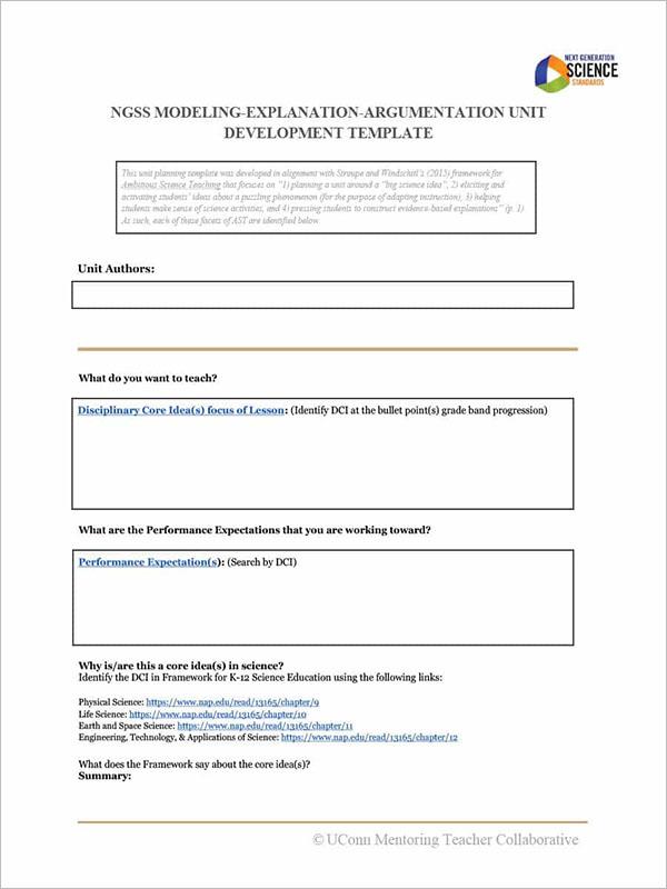 Unit Plan Template PDF