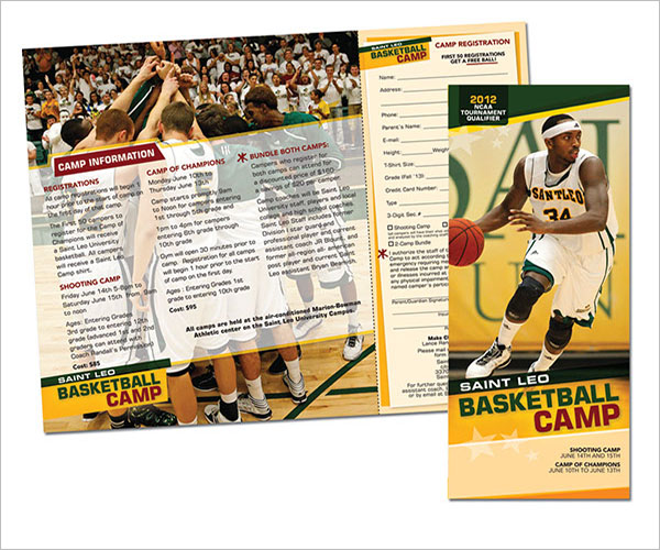 Upward Basketball Brochure Template
