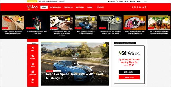 Video Newspaper WordPress Theme