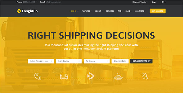 Warehousing WordPress Theme