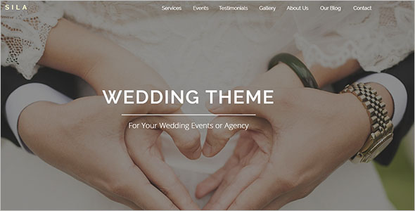 Wedding Agency Landing Page Template
