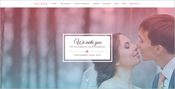 Wedding Bootstrap Template Free Download