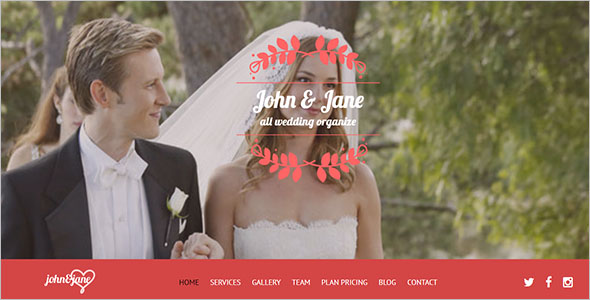 Wedding Celebrations Landing Page Template