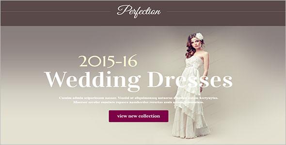 Wedding Dress Landing Page Template