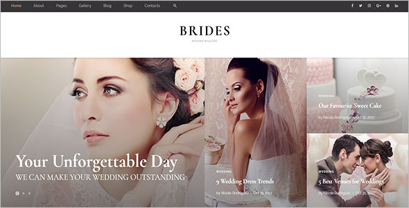 Wedding HTML Website Template