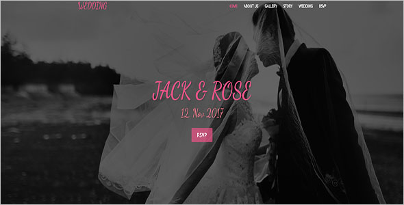 Wedding Hall Bootstrap Template