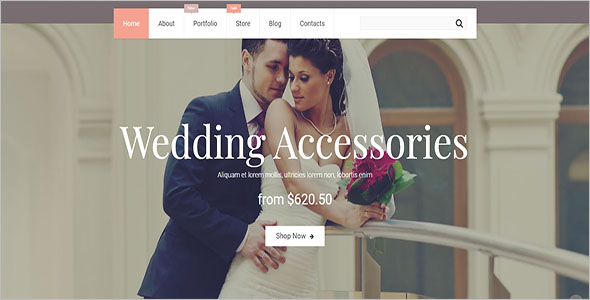 Wedding Jewelry Bootstrap Template