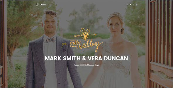 Wedding Landing Page PSD Template
