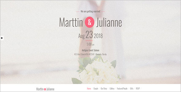Wedding Planner Bootstrap Template