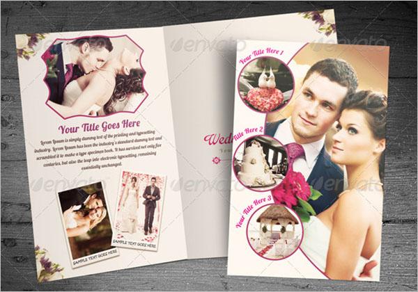 Wedding Planner Half Fold Brochure Template