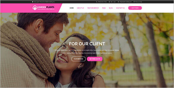 Wedding Planner Landing Page Template