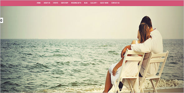 Wedding Site Bootstrap Template