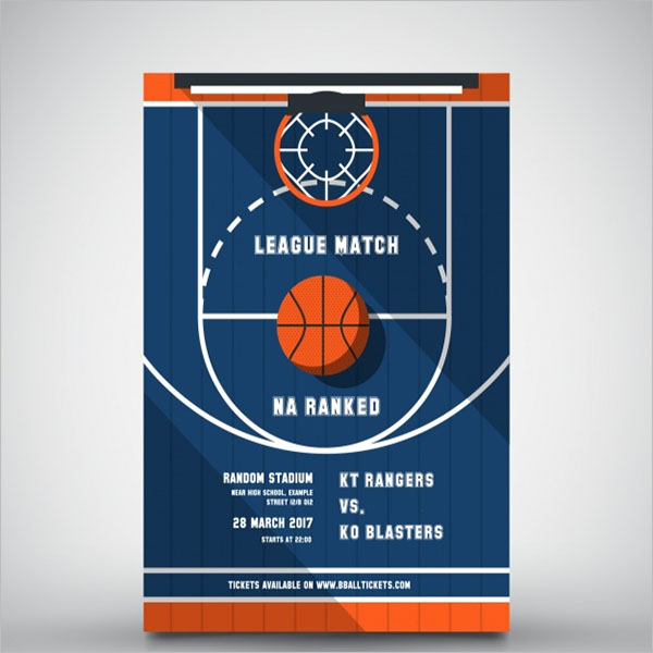 Weekend Basketball Brochure Template