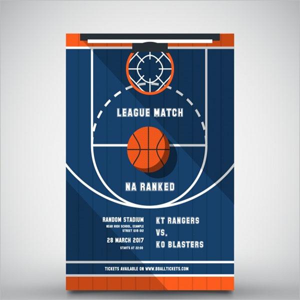 Weekend Basketball Brochure Template