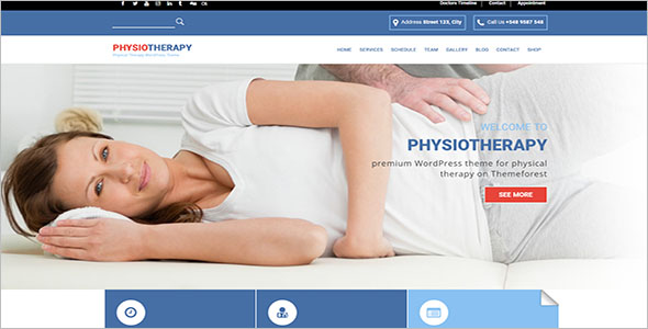 WordPress For Physiotherapy & Chiropractor