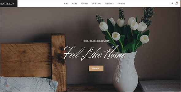 WordPress Hotel Website Template