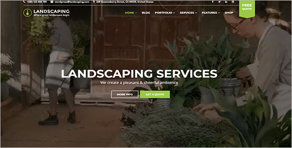 WordPress Landscaping Theme