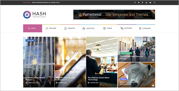 WordPress Online Newspaper Theme