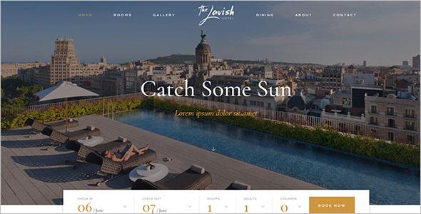 WordPress Resort Website Template