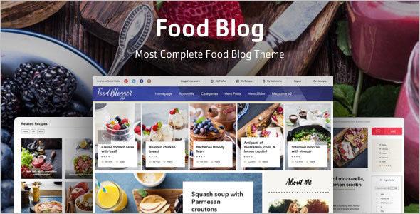 WordPress Theme for Food Recipe Blog