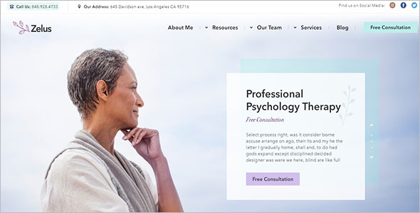 WordPress Theme for Physiotherapy