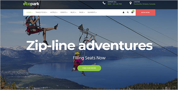 WordPress Theme for Tour, Travel & Resort