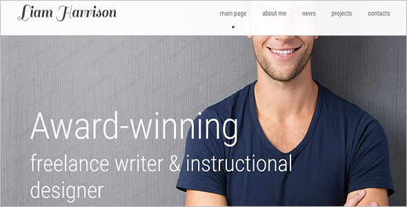 Writer HTML5 Template