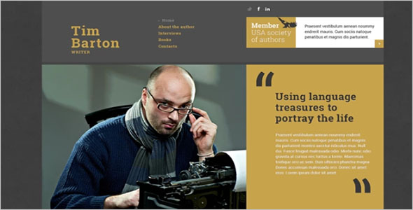 Writing Portfolio HTML Template