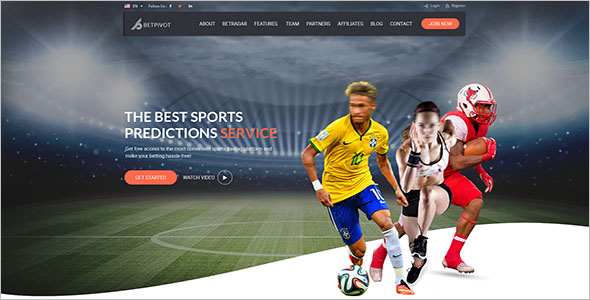clean Sports Landing Page Template