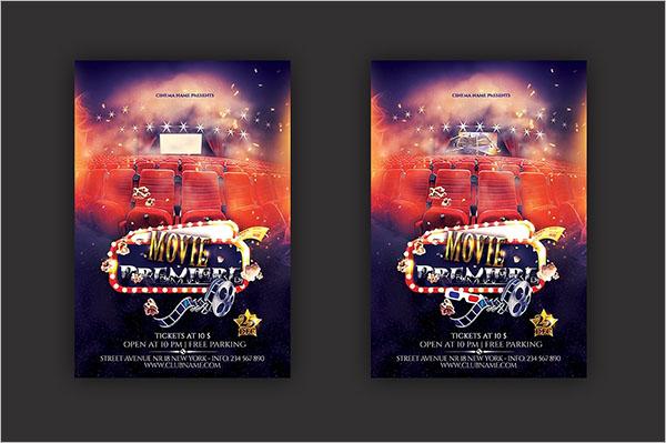 3D Movie Flyer Design