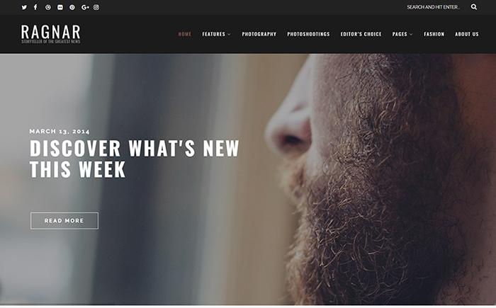 Ragnar - A Bold WordPress Theme
