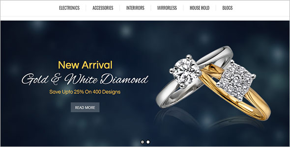 Abstract Opencart Jewelry Theme