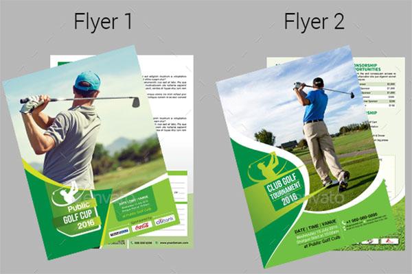 Advertising Golf Flyer Template