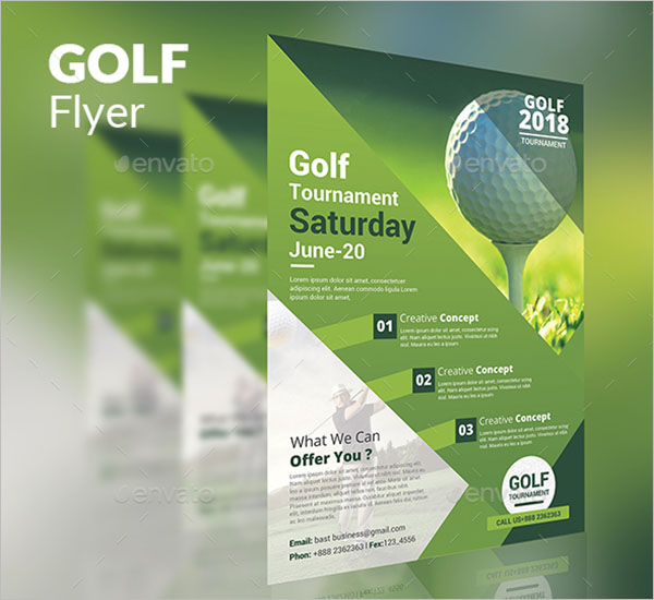 annual golf flyer template