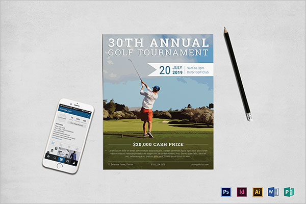 Annual Golf Tournament Flyer Template