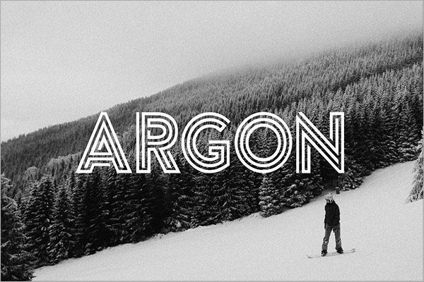 Argon Font Design