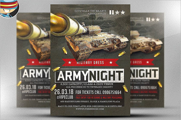 Army Night Flyer Template