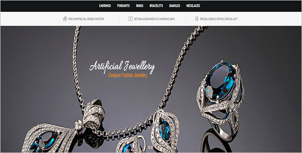 Artificial Jewelry Opencart Theme