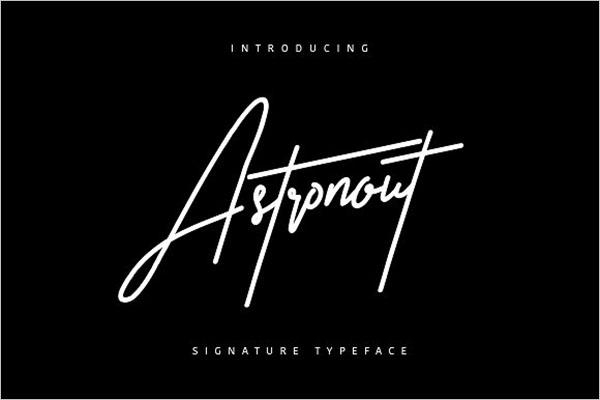 Astronout Signature Fonts
