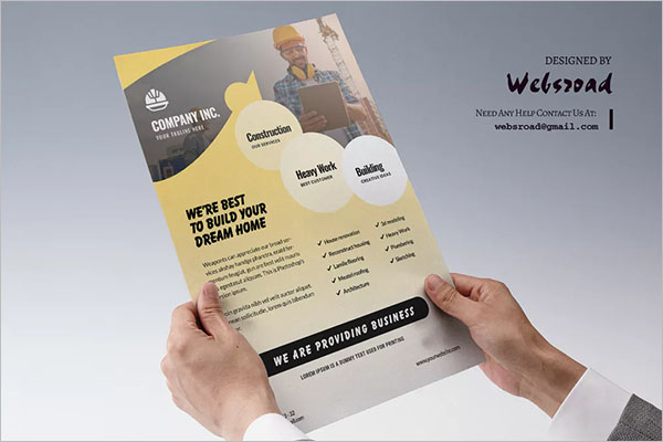 Best Construction Flyer Template