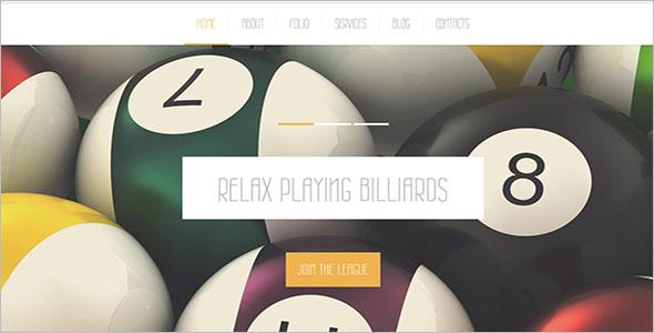 Billiard Club Joomla Template