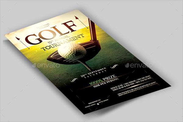 Blank Golf Flyer Template