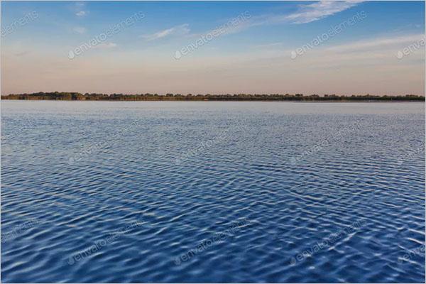 Blue Lake Water Texture Design