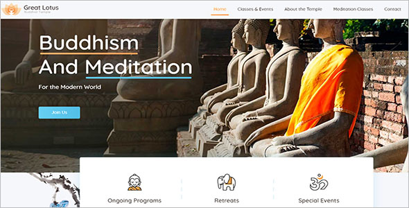 Buddhist Website WordPress Template