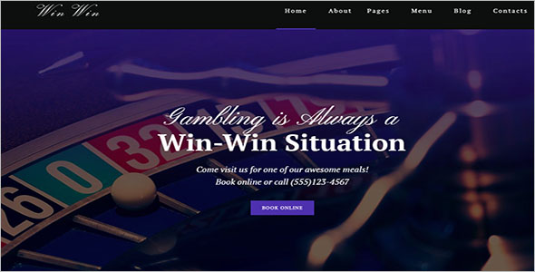 Casino Website WordPress Theme
